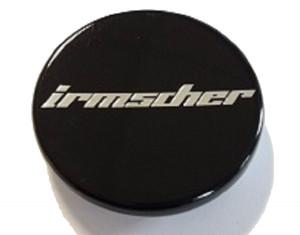 Satz Radnabenabdeckung schwarz mit Irmscher Logo