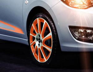"""LM-Felgen-Satz Turbo-Star Orange Exclusiv 16"""""""