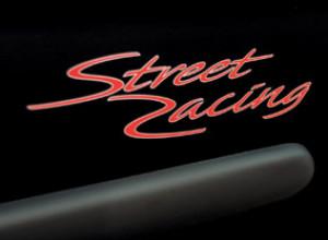 SCHRIFTZUG STREET RACING ROT