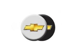 Satz Radnabenabdeckung schwarz mit Chevrolet Logo