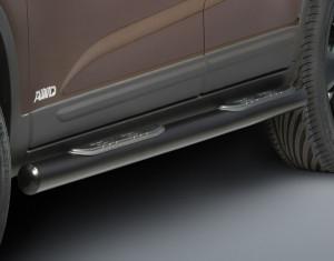 Side steps round black KIA Sorento XM facelift