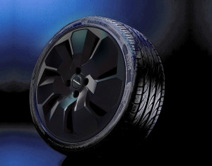 Wheel kit Cosmo Star Black design (19 inch) with winter tire