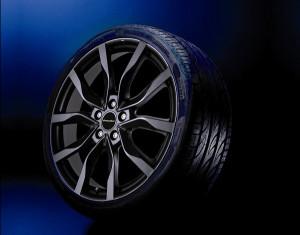 Wheel kit High Star design black (19 inch) with winter tire