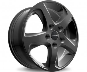 Light alloy wheel set Wave black design exclusive (17 inch)