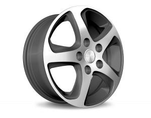 Light alloy wheel in Wave Star exclusive mat design