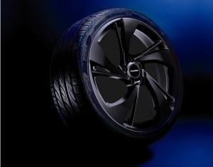 Wheel kit Heli Star design black (18 inch) with winter tire