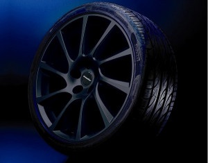 Wheel kit in Turbo Star black design (18 inch) with summer tire