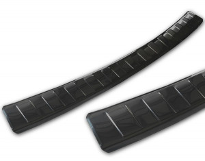 Loading edge protection (stainless-steel, black)