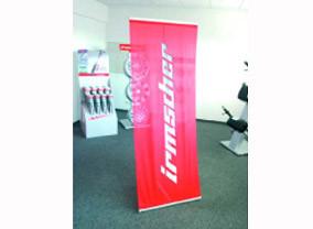 Indoor-Banner mit Ständer