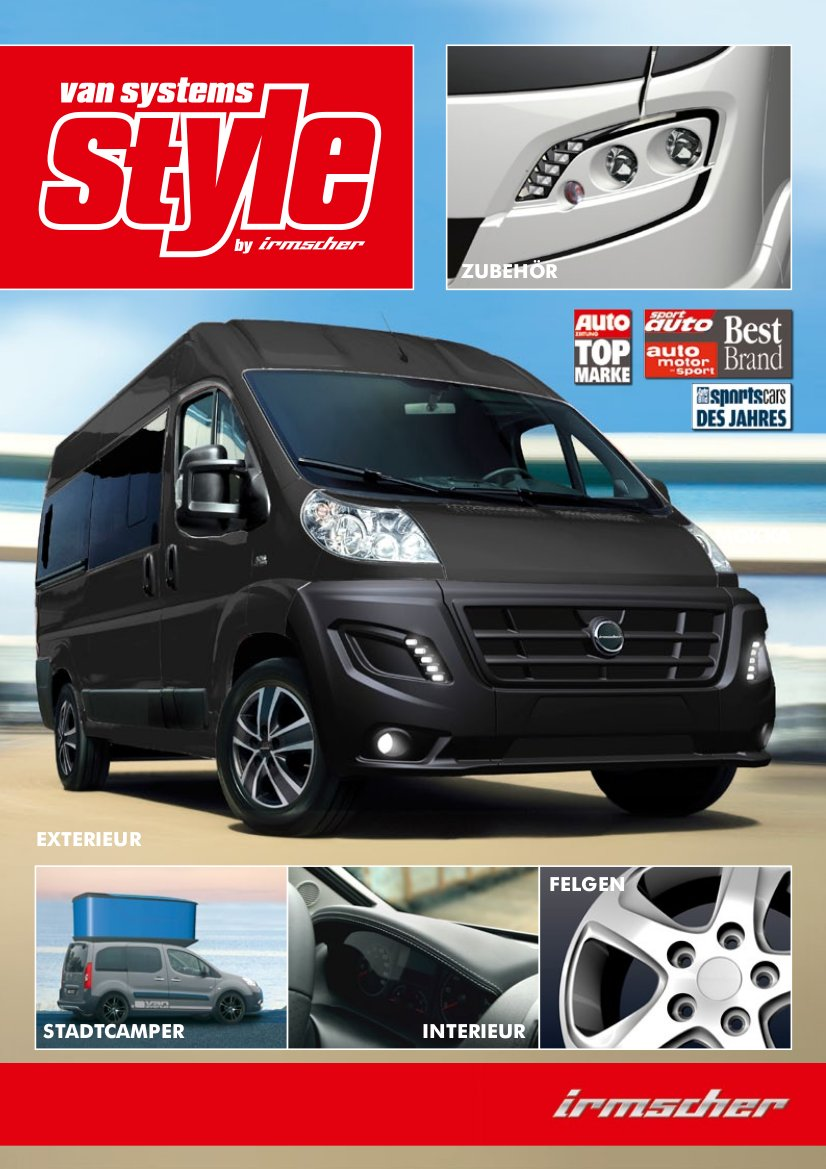 van systems style by irmscher